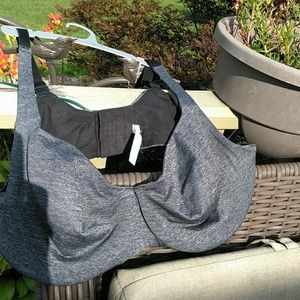 NWOT Cacique 44d unlined full coverage grey bra